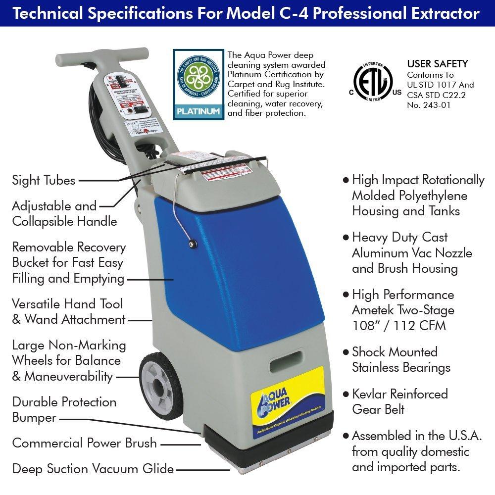 Aqua Power C4 Hot Water Carpet Extractor